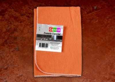 Franela Especial de 50x50cm color naranja frisada